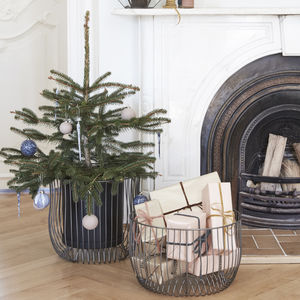 Metal Christmas Tree Basket - baskets