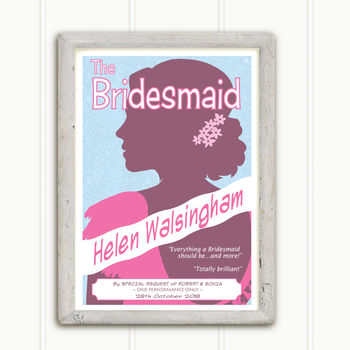 Personalised Wedding Thank You Print: The Bridesmaid
