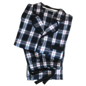 Men's Personalised Cotton Check Pyjamas - winter sale