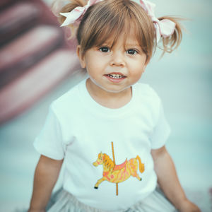 Carousel Horse Short Sleeve Baby Top