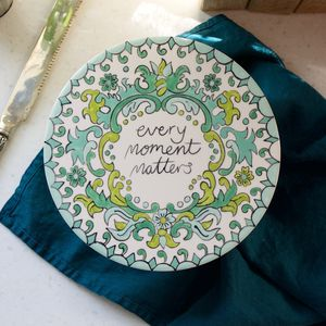 'Every Moment Matters' Pottery Painting Set - cheese boards & knives