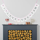 Personalised Valentine's Bunting