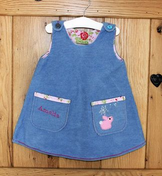 Personalised Tunic Denim Dress