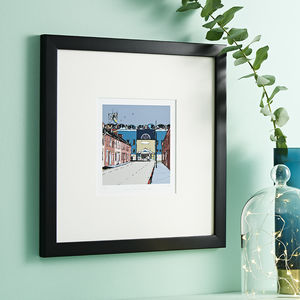 Manchester City's Old Football Ground Maine Road Print