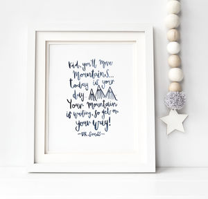 Brush Lettered Print Dr. Seuss Quote - drawings & illustrations