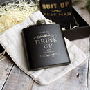 Drink Up Black Hip Flask