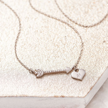 Arrow Necklace Personalised Diamond Necklace
