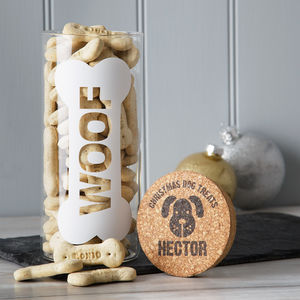 Personalised Dog Treats Jar - treats & food
