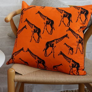 Giraffe Parade Cushion - cushions