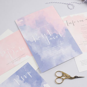 Rose Watercolour Wedding Stationery