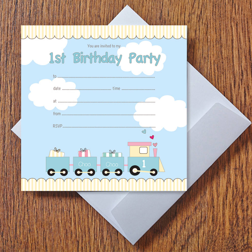 My 1st Birthday 'Choo Choo' Train Party Invitations
