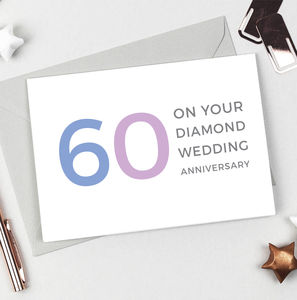 Diamond Wedding Anniversary Card - anniversary cards