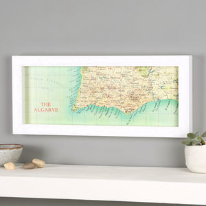 Personalised Algarve Hand Drawn Map Location Print - posters & prints