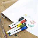 Roll Of Whiteboard Film With Dry Wipe Pens