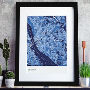 Personalised Abstract Map Print - personalised