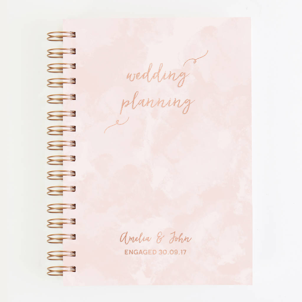 photo relating to Blank Planner named Engagement Present Blank Wedding ceremony Planner