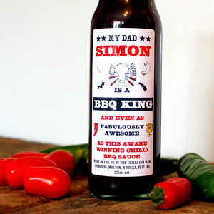 Father's Day Personalised Bbq Sauce