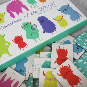 Monster Themed Memory Game