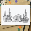 Coventry Skyline Cityscape Greetings Card