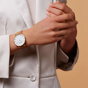 Tan And Gold Vegan Leather Watch - watches