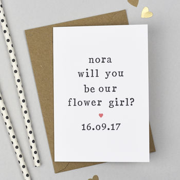 Personalised 'Will You Be Our Flower Girl?' Card