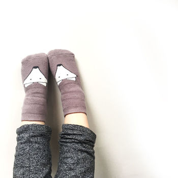 Sneaky Fox Grey Kiddo Socks