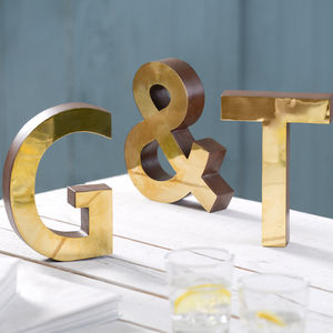 Brass Wood And Freestanding Letters - children's room accessories
