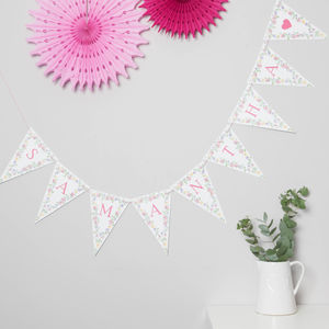 Bespoke Floral Bunting - home accessories