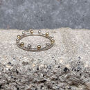 Silver And Gold Crown Ring : Bobble And Twinkle