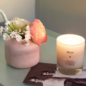 'Make A Wish For A Wonderful Mum' Candle - candles & home fragrance