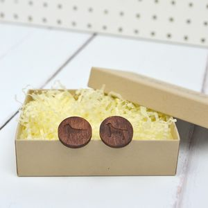 Wooden Rescue Dog Cufflinks - cufflinks