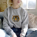 Statement Tiger Jumper, Embroidered Sweater