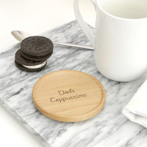 Personalised Wooden Mug Mat - tableware