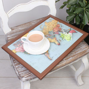 Map Of The World Lap Tray - tableware