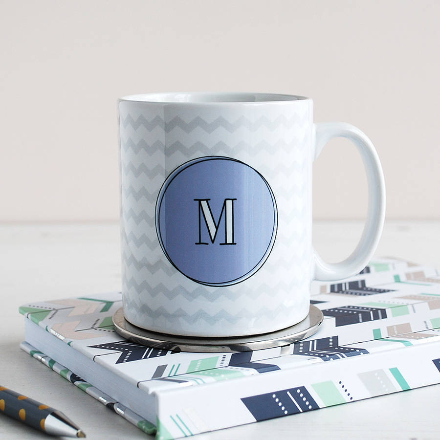 Personalised Monogram Zig Zag Mug
