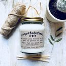 Personalised 'Congratulations' Scented Soy Candle