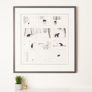 Bear Storyboard Print - nursery pictures & prints