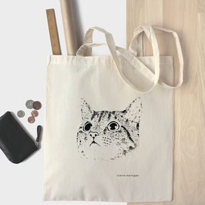 Cat Cotton Tote Bag