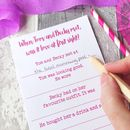 'Love At First Sight' Hen Party Game