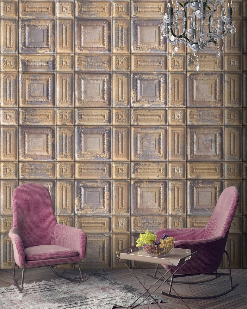 Delancey tin tiles by woodchip and magnolia by woodchip magnolia - American tin tiles wallpaper ...