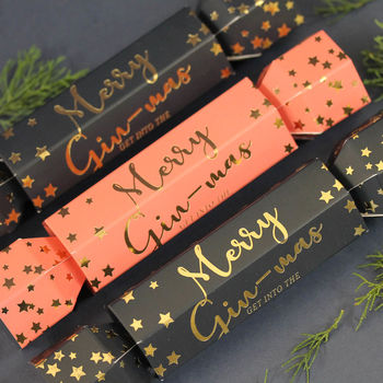 Gin Filled Christmas Cracker In Navy Or Pink
