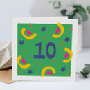 10th Birthday Card, Card For 10 Year Old, Unisex