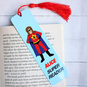 Superhero Bookmark For Girls
