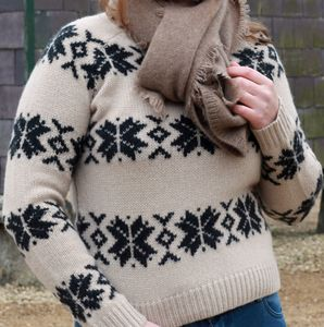 Snowflake Crew Sweater - women's fashion