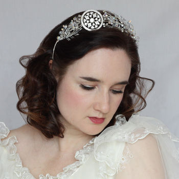 Art Deco Silver Side Tiara