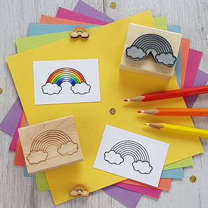 Rainbow Rubber Stamp - baby & child sale