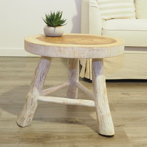 White Painted Wooden Coffee Table - furniture