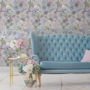 Floral Photograph Collage Wallpaper - home decorating