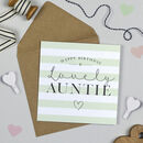 Happy Birthday Auntie Card