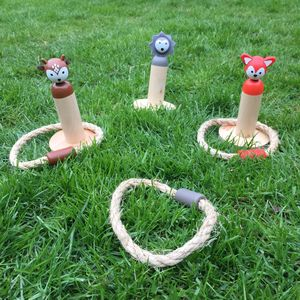 Woodland Animal Ring Toss Game - traditional toys & games